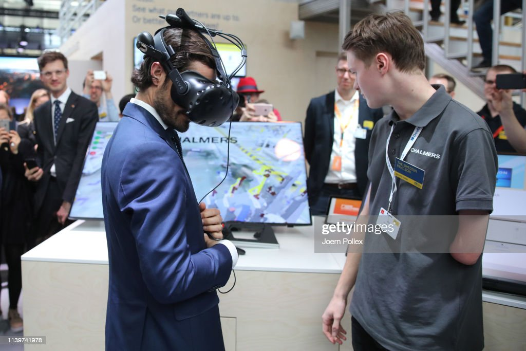 Prince Carl Philip Of Sweden Visits Hannover Messe 2019 : News Photo