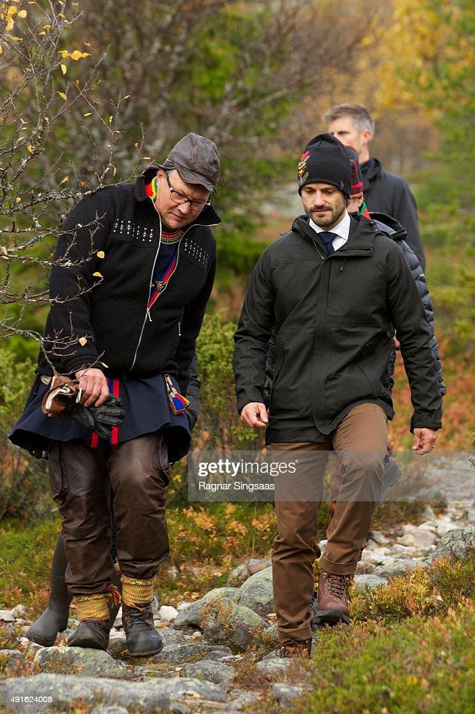 Prince Carl Philip of Sweden and Princess Sofia Visit Dalarna - Day 2 : News Photo