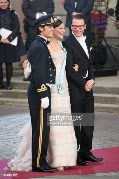 Prince Carl Philip of Sweeden, Crown Princess Victoria de Suede and Daniel Westling attend the Gala Performance in celebration of Queen Margrethe's...