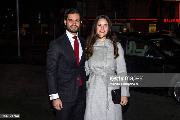 "Prince Carl Phillip and Princess Sofia of Sweden attend the ""Christmas in Vasastan"" concert at Gustav Vasa church on December 21, 2017 in Stockholm,..."