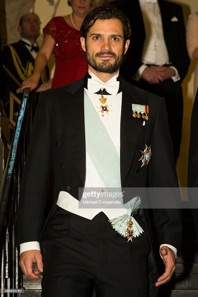 Prince Carl Phillip of Sweden attend The Royal Swedish Academy of Engineering Sciences' Formal Gathering on October 23rd, 2015 in Stockholm, Sweden.