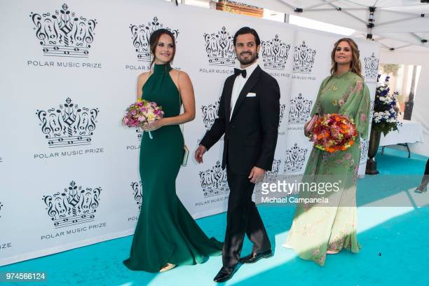 Prince Carl Phillip of Sweden Princess Sofia of Sweden and Princess Madeliene of Sweden attend the 2018 Polar Music Prize award ceremony at the Grand...