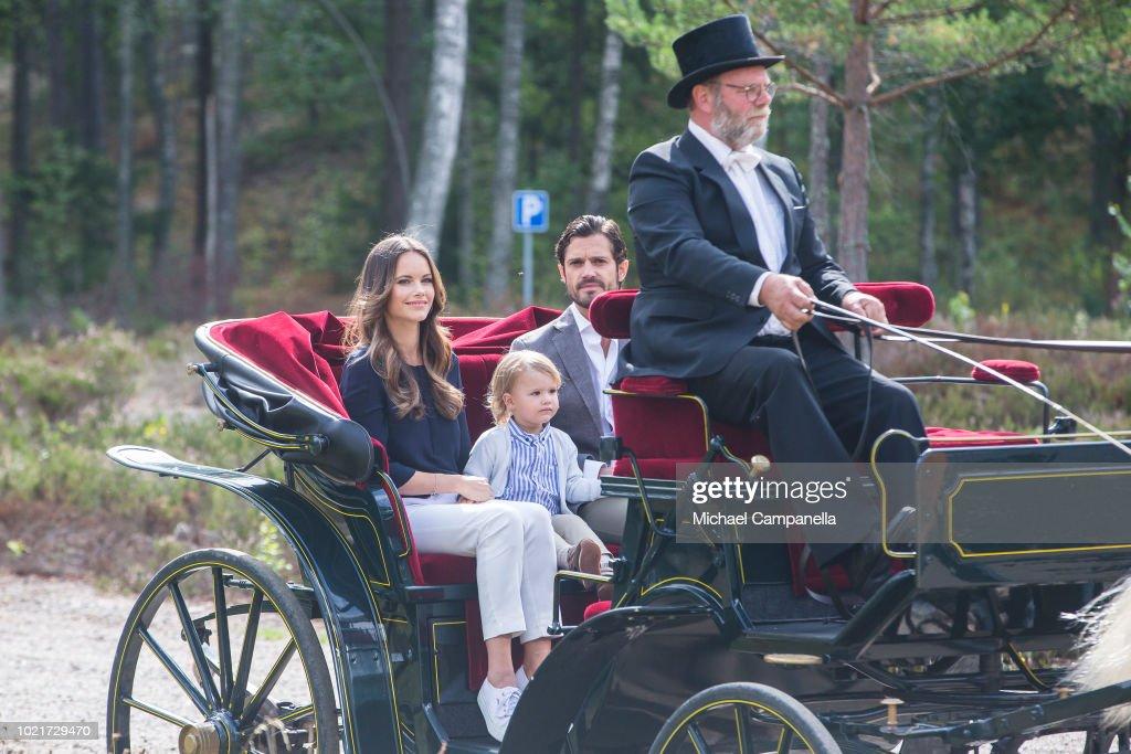 Swedish Royals Visit Nynas Nature Reserve : News Photo