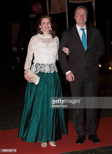 Prince Carlos de Bourbon de Parme and Princess Annemarie attend a celebration of the reign of Princess Beatrix on February 1 2014 in Rotterdam...