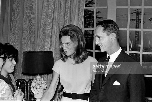 Prince Carlos Hugo de Borbon Parma former pretender to the Spanish crown and Princess Irene of the Netherlands in their house in Madrid Madrid Spain