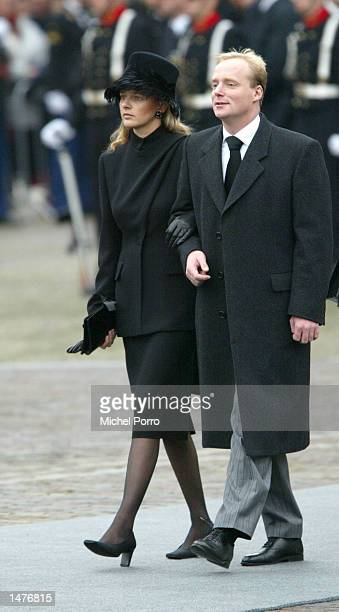 Prince Carlos of Bourbon Parma and Mabel Wisse Smit girl friend of Dutch Prince Johan Friso arrive for the funeral ceremony of Prince Claus of the...