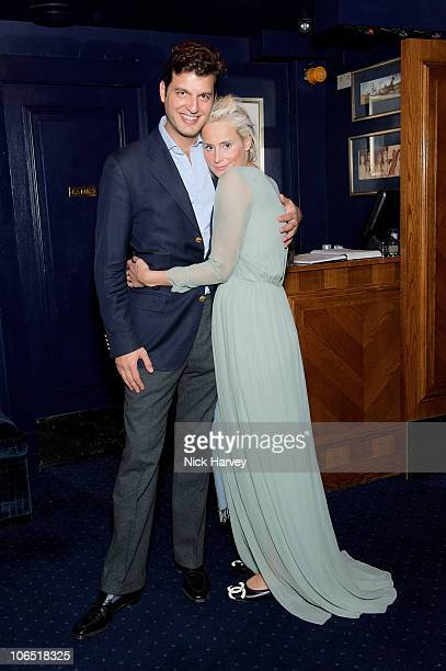 Prince Casimir Wittgenstein-Sayn and Kalita al Swaidi attend the launch party of 'Tatler's Little Black Book' on November 3, 2010 in London, United...