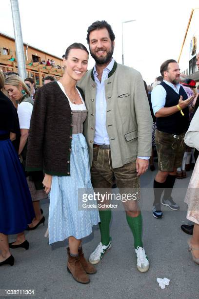 Prince Casimir zu Sayn-Wittgenstein-Berleburg and his fiance Alana Bunte during the Oktoberfest 2018 opening and Lodenfrey Wiesn Schuetzenfesthalle,...