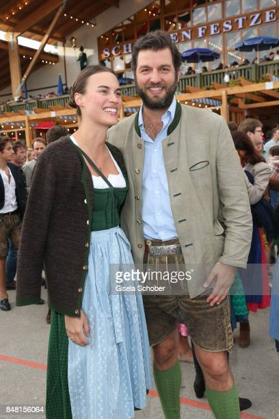 Prince Casimir zu Sayn-Wittgenstein-Berleburg and his fiance Alana Bunte during the opening of the Oktoberfest 2017 at Theresienwiese on September...
