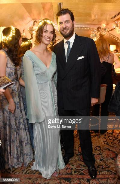 Prince Casimir zu Sayn-Wittgenstein-Sayn and Alana Bunte at the Luisa Beccaria and Robin Birley event celebrating Sicilian lifestyle, music and...