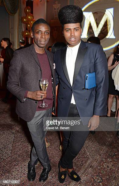 Prince Cassius and guest attend a party to celebrate 25 years of Magnum at Home House on March 26 2014 in London England
