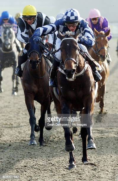 Prince Charlemagne and jockey James Doyle win The Betdirect Freephone 0800 211 222 Handicap at Lingfield racecourse Wednesday January 25 2006 PRESS...