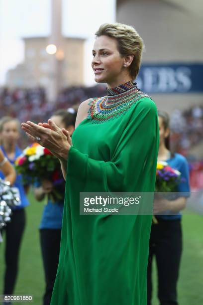 Prince Charlene of Monaco during the IAAF Diamond League Meeting Herculis on July 21 2017 in Monaco Monaco