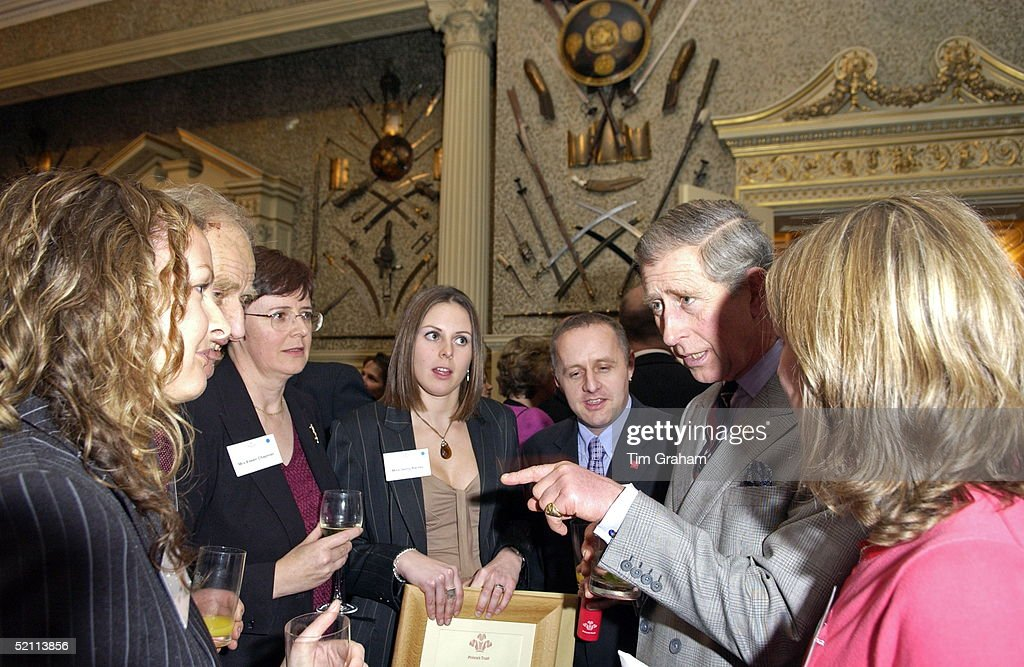 Prince Charles After Presenting Prince's Trust Celebrate Success Awards Meets Employees Of The Trust At A Party At Sandringham House.
