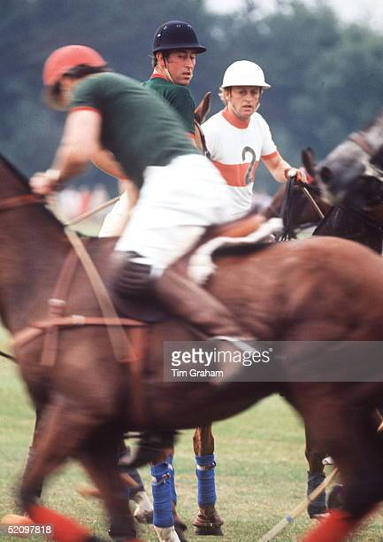 Prince Charles And Andrew Parkerbowles Playing Against Each Other At Polo At Smiths Lawn Windsor In The 1970's