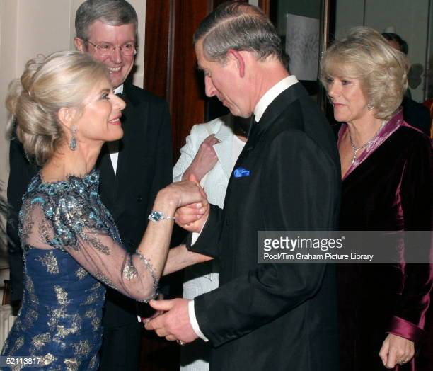 Prince Charles And Camila Parkerbowles Meeting The Countess Of Chichester At The Royal Opera House In London Whilst Attendng A Winter Gala...