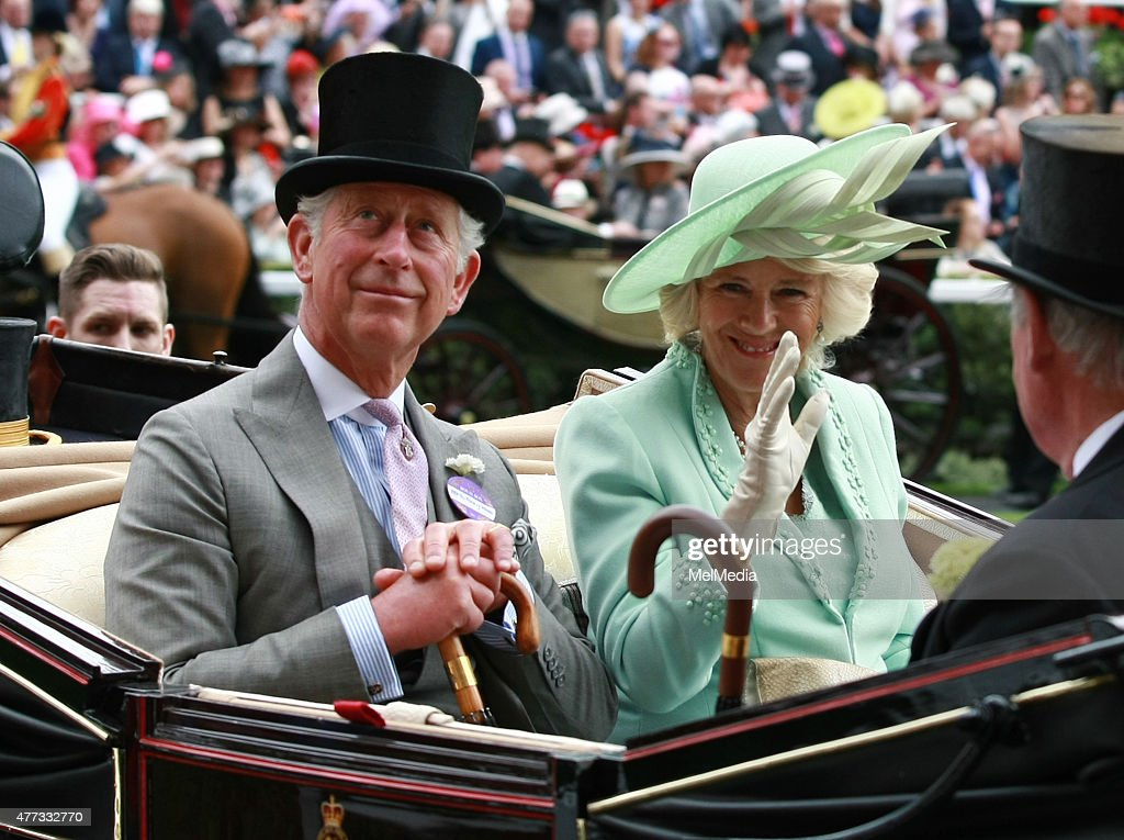 Prince Charles and Camilla Duchess of Cornwall arrive for day 1of Royal Ascot at Ascot Racecourse, on June 16, 2015 in Ascot, England.