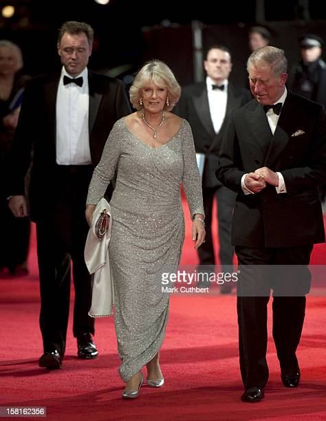 Prince Charles And Camilla Duchess Of Cornwall Attend The Royal Film Premiere Of 'Hugo' At The Odeon Leicester Square In London