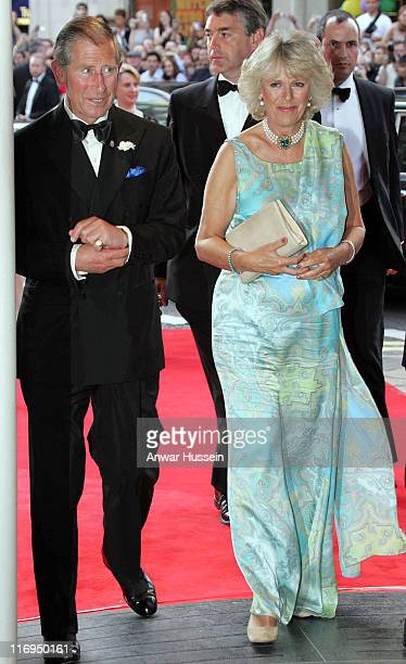 Prince Charles and Camilla Parker Bowles during The Royal Gala Charity Performance of 'Mamma Mia' at The Prince of Wales Theatre in London Great...