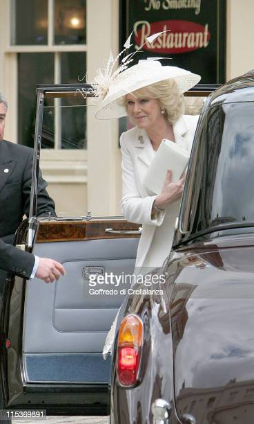 HRH Prince Charles and Camilla Parker Bowles during The Royal Wedding of HRH Prince Charles And Camilla Parker Bowles Outside at Guildhall in Windsor...