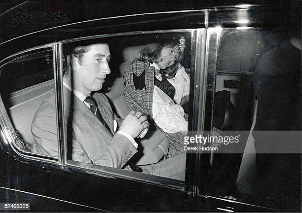 Prince Charles and Camilla Parker Bowles leave a London theater after a night out in the West End February 13 1975 in London Prince Charles announced...