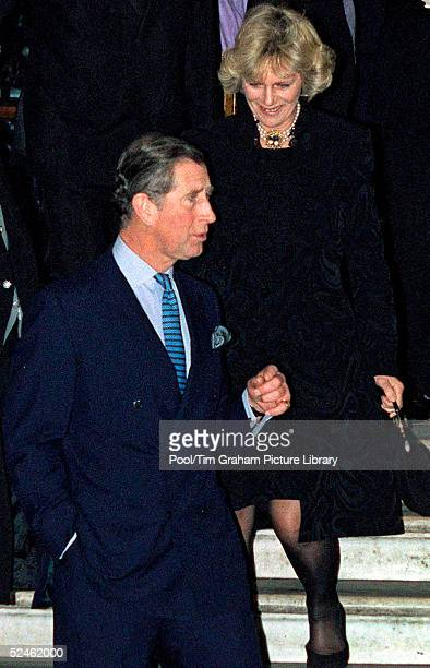 HRH Prince Charles and Camilla ParkerBowles are seen leaving the Ritz Hotel in London after attending the 50th birthday party for Camilla's sister...