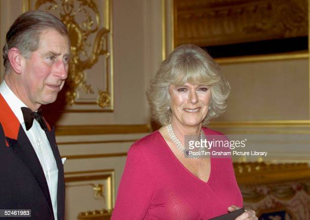 HRH Prince Charles and Camilla ParkerBowles attend an official dinner engagement following the announcement that they will marry February 10 Windsor...
