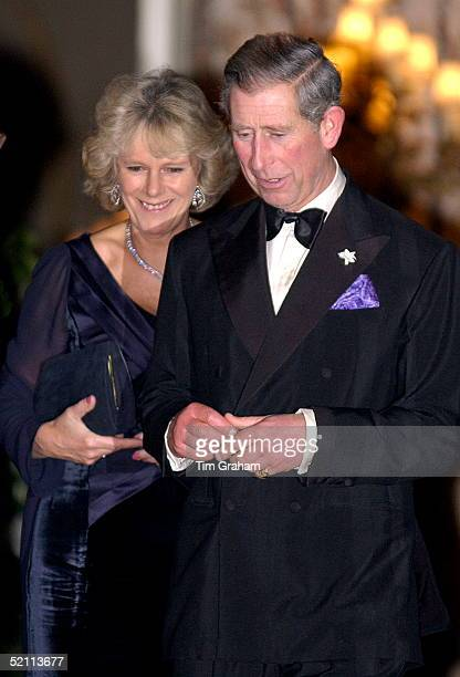 Prince Charles And Camilla Parkerbowles Leaving The Ritz After A Party To Celebrate The Golden Jubilee