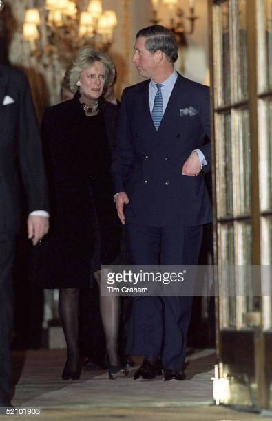 Prince Charles And Camilla Parker-bowles Leaving The Ritz Hotel In London After Attending A 50th Birthday Party For Camilla's Sister.