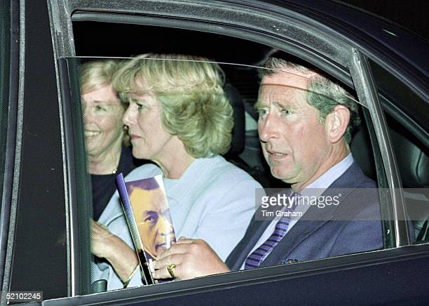 Prince Charles And Camilla Parker-bowles With A Friend Leaving The Royal Festival Hall By Car After Watching A Performance Called 'hidden...