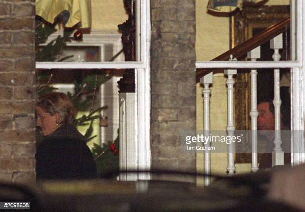 Prince Charles And Diana At Carol Concert At Eton College After Their Divorce