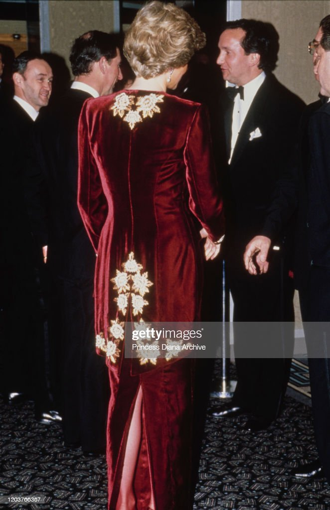 Charles And Diana At Steel Magnolias Premiere : News Photo