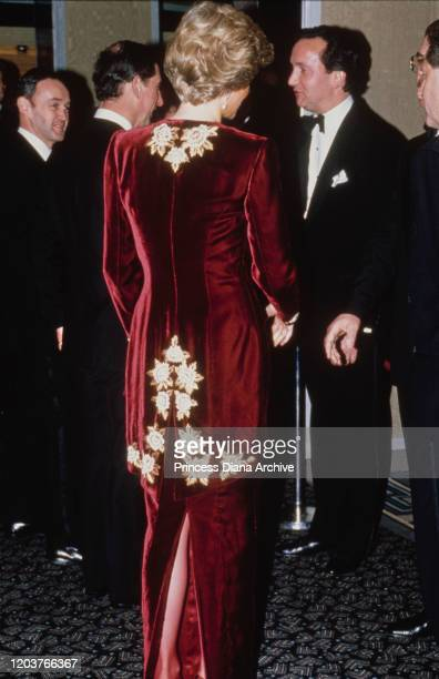 Prince Charles and Diana Princess of Wales at the premiere of the film 'Steel Magnolias' at the Odeon Leicester Square in London 7th February 1990...