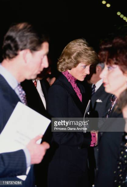 Prince Charles and Diana, Princess of Wales attend a concert by Russian cellist Mstislav Rostropovich in aid of the Armenian earthquake fund at the...