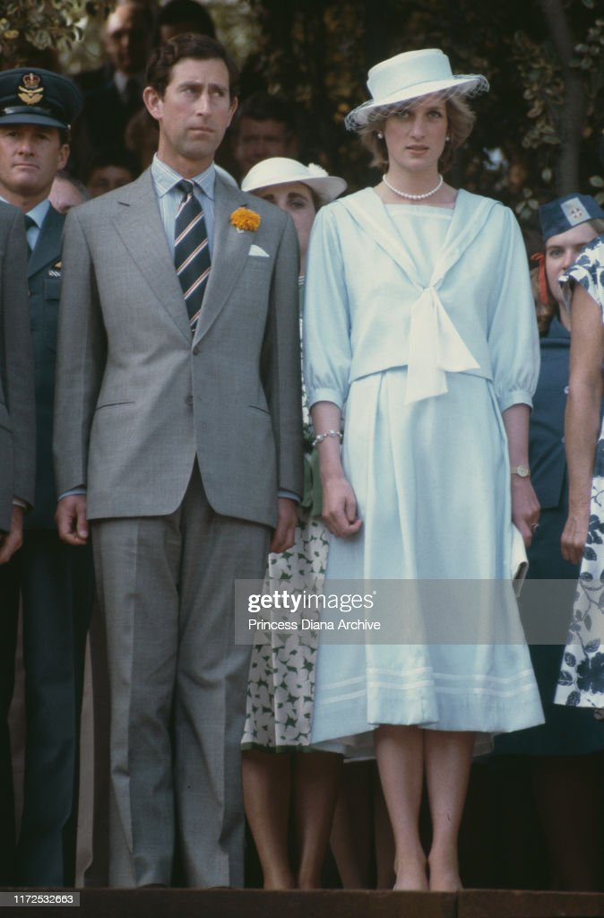 Charles and Diana In Australia : News Photo