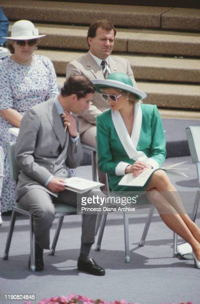 Prince Charles and Diana, Princess of Wales attend the Australian Bicentenary celebrations in Sydney Harbour, Sydney, Australia, January 1988. Diana...