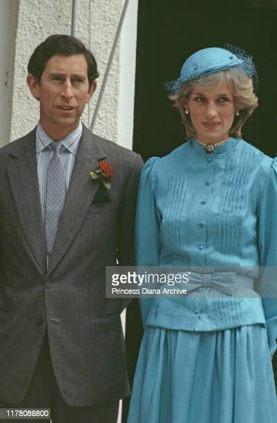 Prince Charles and Diana, Princess of Wales in Canberra during a visit to Australian Prime Minister Bob Hawke and his wife Hazel, March 1983.