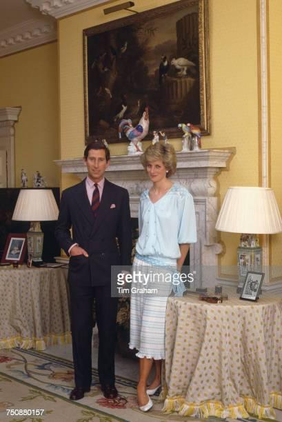 Prince Charles and Diana Princess of Wales Kensington Palace London 4th October 1985