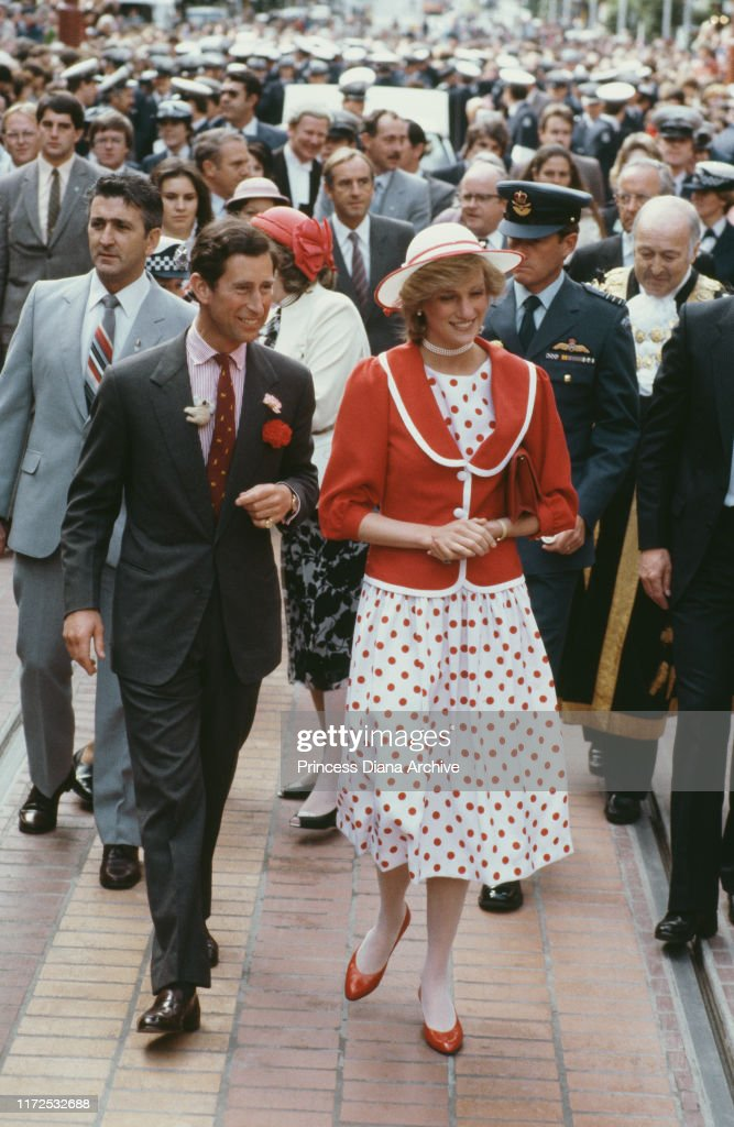 Charles and Diana In Melbourne : News Photo