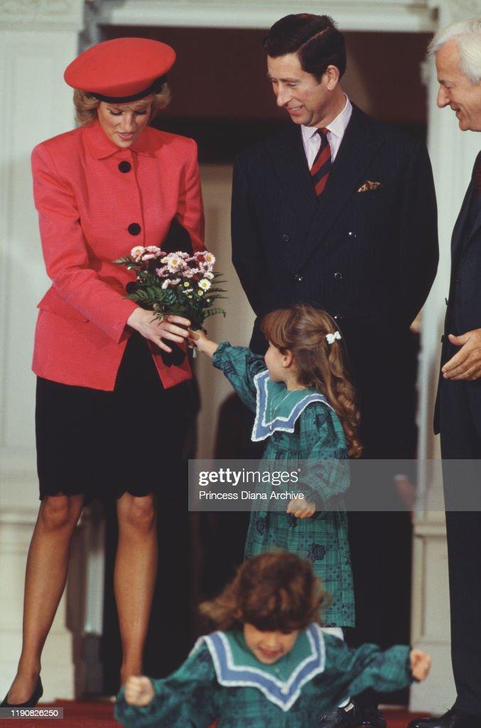 Charles And Diana In Bonn : News Photo