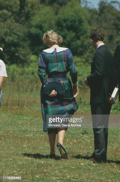 Prince Charles and Diana Princess of Wales visit Rotamah Island in Victoria Australia October 1985
