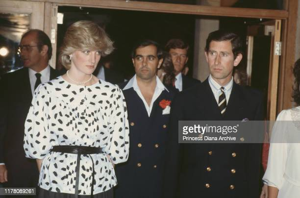 Prince Charles and Diana, Princess of Wales visit the Helen Mayo refectory at Adelaide University, Adelaide, Australia, 5th April 1983. Diana is...