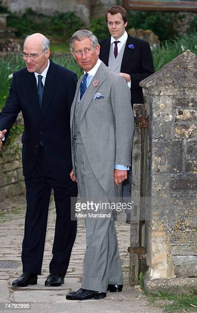 Prince Charles and guest during Laura Parker Bowles and Harry Lopes Wedding at the St Cyriac's Church in London United Kingdom