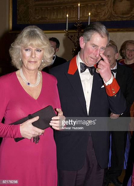 Prince Charles and his fiancee Camilla ParkerBowles attend a dinner at Windsor Castle on February 10 2005 in Windsor England It is the couples first...