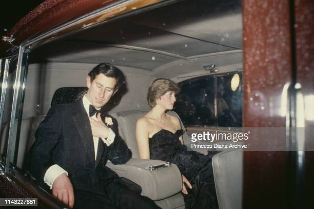 Prince Charles and his fiancee Lady Diana Spencer attend their first public engagement together, a recital at London's Goldsmith's Hall in aid of the...
