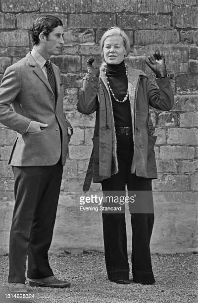 Prince Charles and Katharine, Duchess of Kent, UK, 1st May 1974.