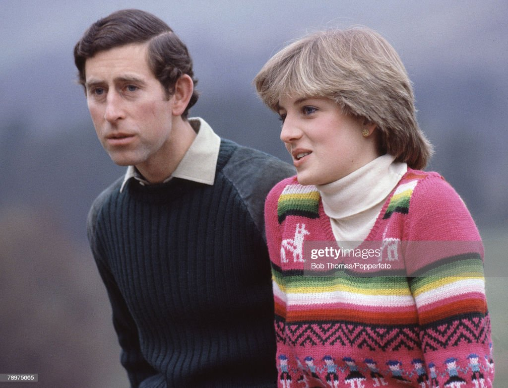 Charles And Diana At Balmoral : News Photo