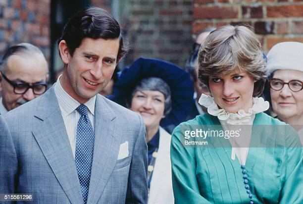 Prince Charles and Lady Diana Spencer opening the Mountbatten Exhibition at Broadlands, the home of Lord Louis Mountbatten, who was murdered in...