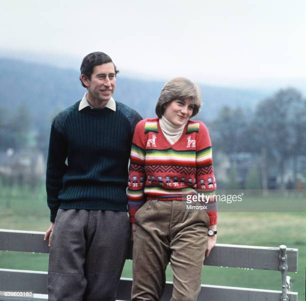 Prince Charles and Lady Diana Spencer vacationing at Balmoral in May 1981 during their engagement Diana's entrance into the royal family was believed...