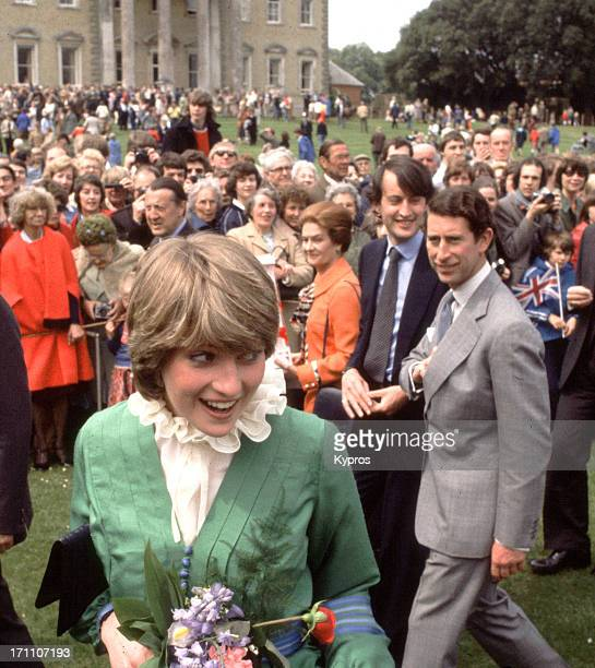 Prince Charles and Lady Diana Spencer visit Broadlands shortly after their engagement March 1981